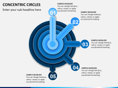 Concentric circles PPT slide  5