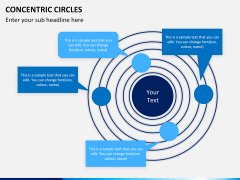 Concentric circles PPT slide  7