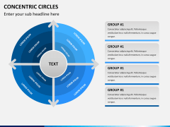 Concentric circles PPT slide  8
