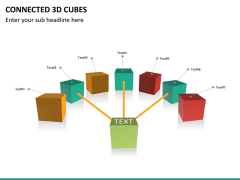 Connected 3d cube PPT slide 10