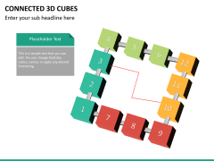 Connected 3d cube PPT slide 13