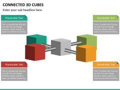 Connected 3d cube PPT slide 15