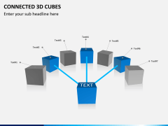 Connected 3d cube PPT slide 2