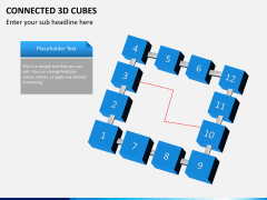 Connected 3d cube PPT slide 5