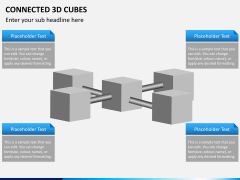 Connected 3d cube PPT slide 7