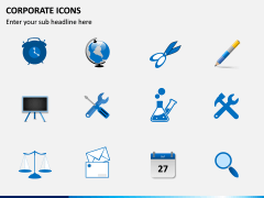 Corporate Icons PPT slide 11