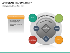 Corporate responsibility PPT slide 20