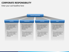 Corporate responsibility PPT slide 6