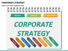 Corporate strategy PPT slide 23