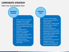Corporate strategy PPT slide 16
