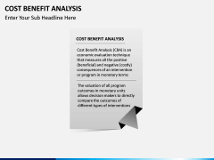 Cost benefit analysis PPT slide 3