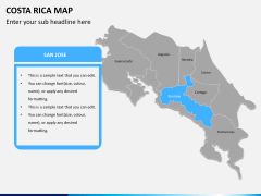Costa Rica Map PPT slide 7
