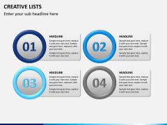 Creative lists PPT slide 5