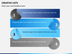 Creative lists PPT slide 6