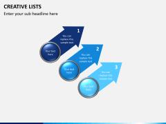 Creative lists PPT slide 7