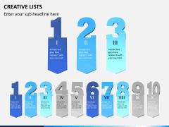 Creative lists PPT slide 8