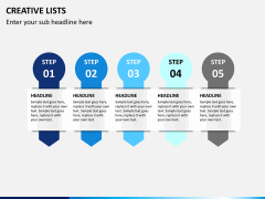 Creative lists PPT slide 9