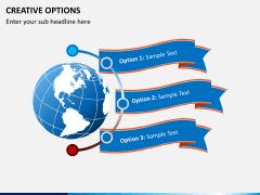 Creative options PPT slide 1