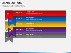 Creative options PPT slide 2