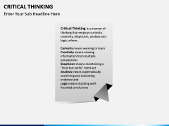 Critical thinking PPT slide 2