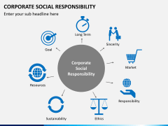 Corporate social responsibility PPT slide 1