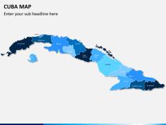 Cuba map PPT slide 1