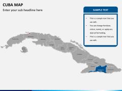 Cuba map PPT slide 12