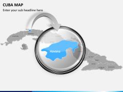 Cuba map PPT slide 13