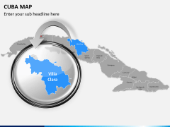 Cuba map PPT slide 14