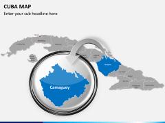 Cuba map PPT slide 15