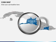 Cuba map PPT slide 16