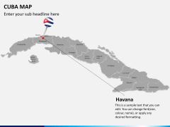 Cuba map PPT slide 20