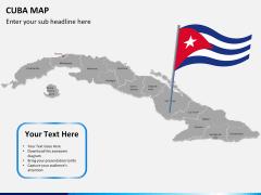 Cuba map PPT slide 21