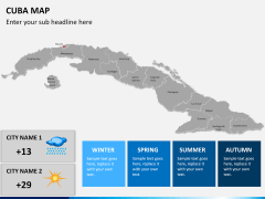 Cuba map PPT slide 22