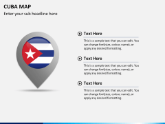Cuba map PPT slide 23