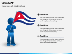 Cuba map PPT slide 24