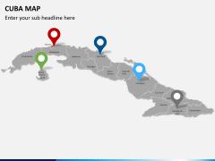 Cuba map PPT slide 6