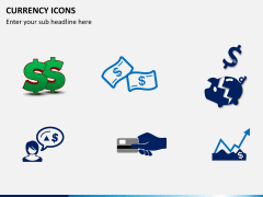 Currency icons PPT slide 2