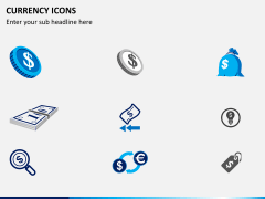 Currency icons PPT slide 3