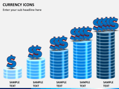 Currency icons PPT slide 4