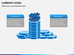 Currency icons PPT slide 5