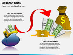 Currency icons PPT slide 7