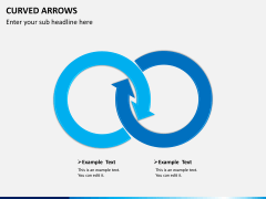 Curved arrows PPT slide 1