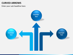 Curved arrows PPT slide 10