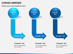 Curved arrows PPT slide 2