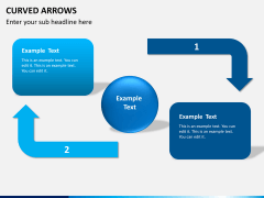 Curved arrows PPT slide 3