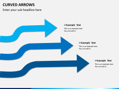 Curved arrows PPT slide 4