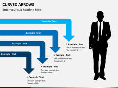 Curved arrows PPT slide 5