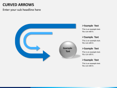 Curved arrows PPT slide 6