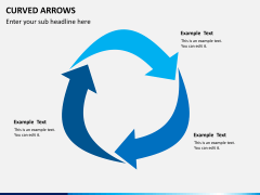 Curved arrows PPT slide 8